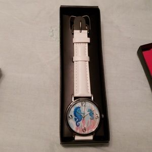 "Avon Summer Time Watch in White, 8-3/4"" long"